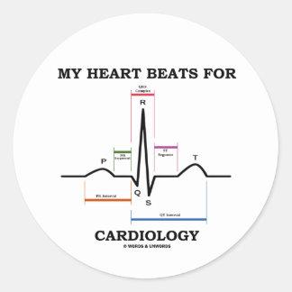 心臓学(湾曲のリズム)のための私の心拍 丸形シール・ステッカー