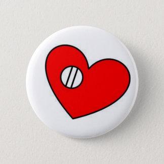 心臓弁ボタン 5.7CM 丸型バッジ