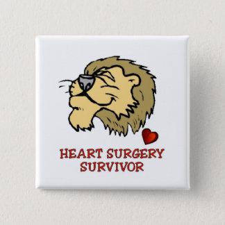 心臓手術の生存者のライオン 缶バッジ