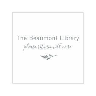心配の原稿のカスタムな図書館の灰 セルフインキングスタンプ