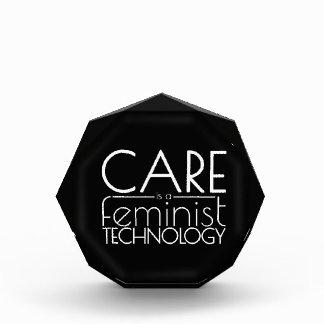 心配は男女同権主義の技術です 表彰盾