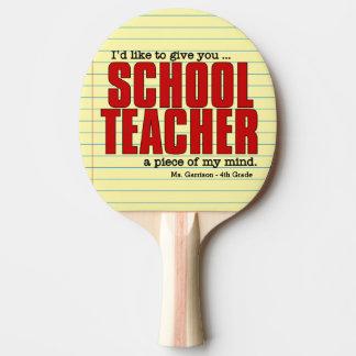 心 のおもしろいなカスタムの学校の先生の部分 卓球ラケット