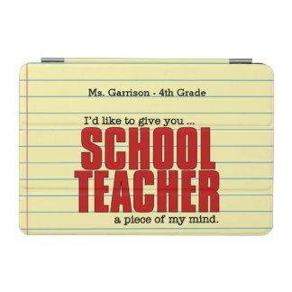 心|のおもしろいなカスタムの学校の先生の部分 iPad MINIカバー