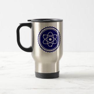 必要な科学の青い原子バッジ トラベルマグ