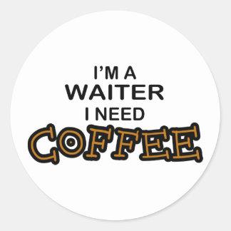 必要性のコーヒー-ウェイター ラウンドシール