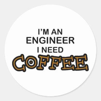 必要性のコーヒー-エンジニア ラウンドシール