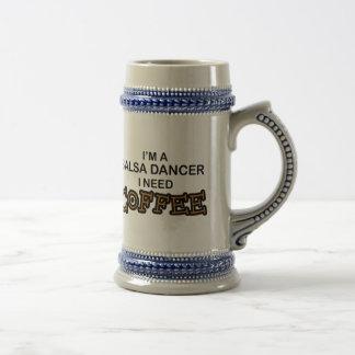 必要性のコーヒー-サルサのダンサー ビールジョッキ