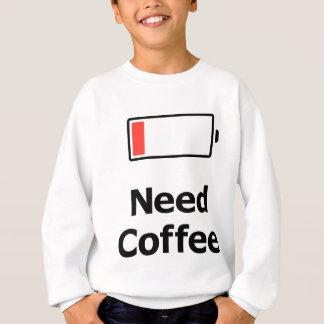 必要性のコーヒー スウェットシャツ