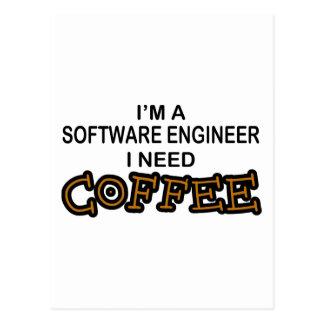 必要性のコーヒー-ソフトウェアエンジニア ポストカード