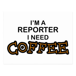 必要性のコーヒー-レポーター ポストカード
