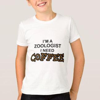 必要性のコーヒー-動物学者 Tシャツ