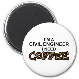 必要性のコーヒー-土木技師 マグネット