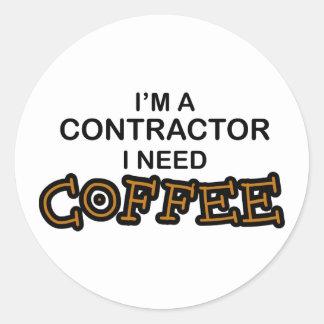 必要性のコーヒー-建築業者 ラウンドシール