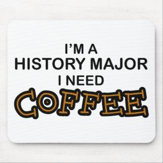 必要性のコーヒー-歴史の専攻学生 マウスパッド