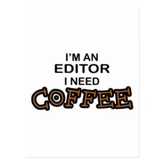 必要性のコーヒー-編集者 ポストカード