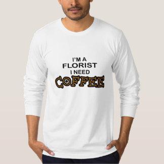 必要性のコーヒー-花屋 Tシャツ
