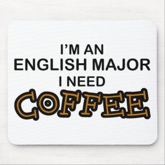必要性のコーヒー-英国の専攻学生 マウスパッド
