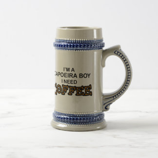 必要性のコーヒー- Capoeiraの男の子 ビールジョッキ