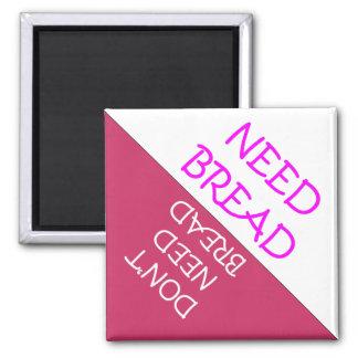 必要性のパンの冷蔵庫のメモ マグネット