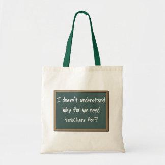 必要性の先生のおもしろいなバッグのトートの財布のユーモアのためになぜ トートバッグ