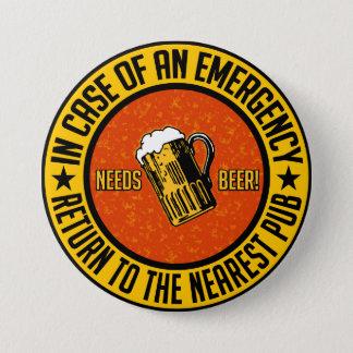 必要性ビール! ボタン 7.6CM 丸型バッジ
