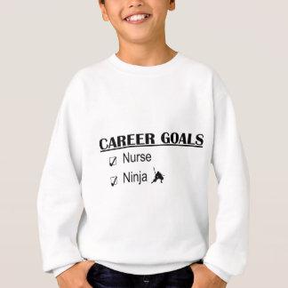 忍者のキャリアのゴール-ナース スウェットシャツ