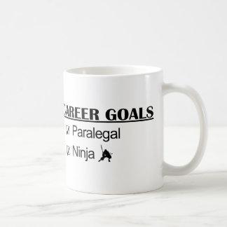 忍者のキャリアのゴール-パラリーガル コーヒーマグカップ