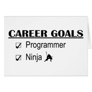 忍者のキャリアのゴール-プログラマー グリーティングカード