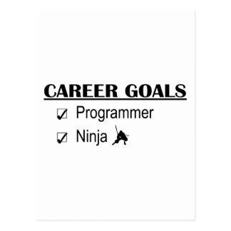 忍者のキャリアのゴール-プログラマー ポストカード