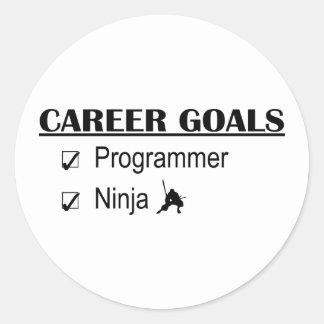 忍者のキャリアのゴール-プログラマー ラウンドシール