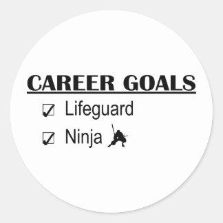 忍者のキャリアのゴール-ライフガード ラウンドシール