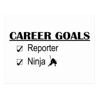 忍者のキャリアのゴール-レポーター ポストカード