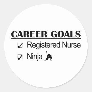 忍者のキャリアのゴール-公認看護師 ラウンドシール