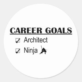忍者のキャリアのゴール-建築家 ラウンドシール