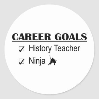 忍者のキャリアのゴール-歴史の先生 ラウンドシール