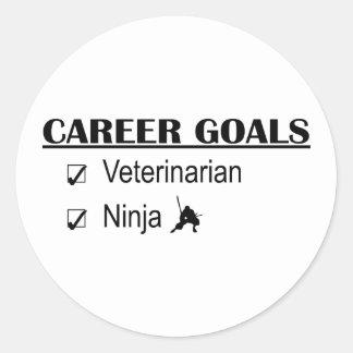 忍者のキャリアのゴール-獣医 ラウンドシール