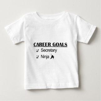 忍者のキャリアのゴール-秘書 ベビーTシャツ