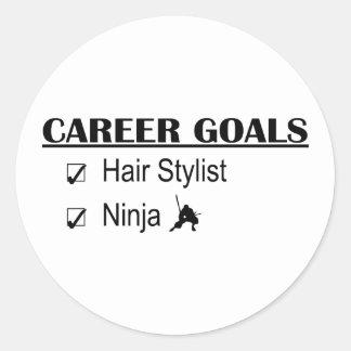 忍者のキャリアのゴール-美容師 ラウンドシール