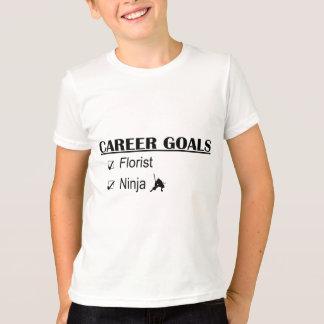 忍者のキャリアのゴール-花屋 Tシャツ