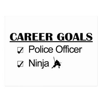 忍者のキャリアのゴール-警官 ポストカード