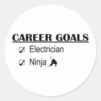忍者のキャリアのゴール-電気技師 ラウンドシール