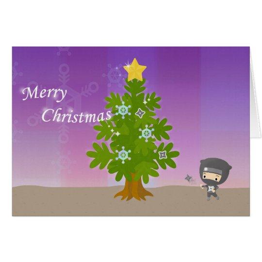 忍者のクリスマス カード