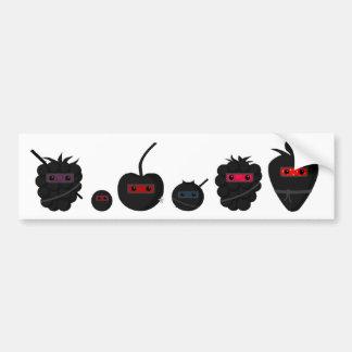 忍者のフルーツ-文字をカスタマイズ バンパーステッカー