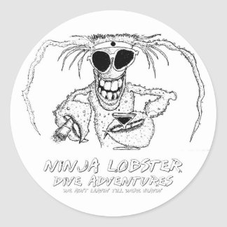 忍者のロブスターの飛び込みの冒険 ラウンドシール