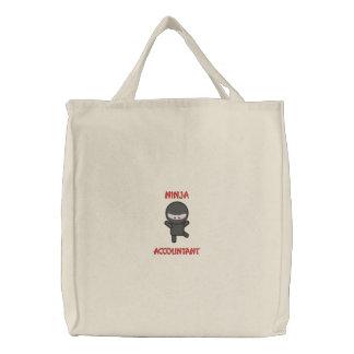 忍者の会計士 刺繍入りトートバッグ