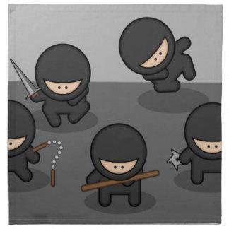 忍者の夕食ナプキン(4)の置いて下さい ナプキンクロス