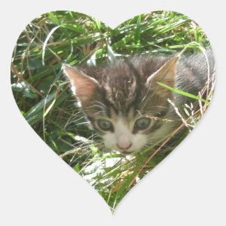 忍者の子ネコ ハートシール