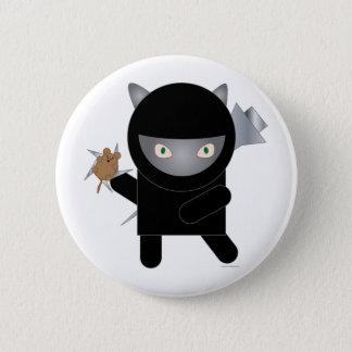 忍者の子猫ピン 5.7CM 丸型バッジ
