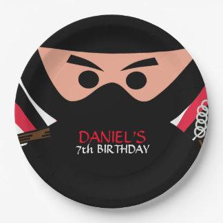 忍者の戦士の誕生日9インチの紙皿 ペーパープレート