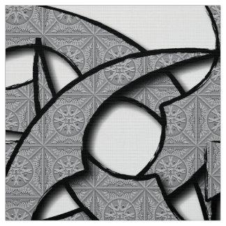 忍者の灰色 ファブリック